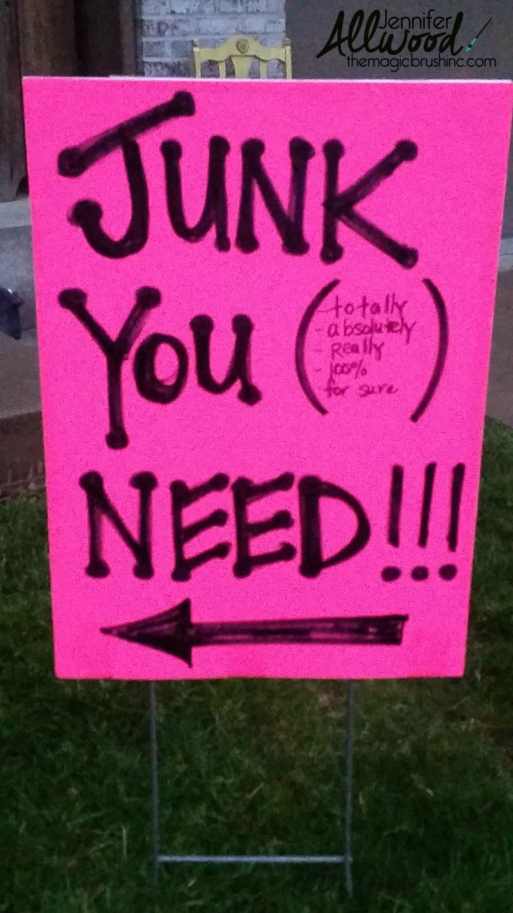 Learn how to host the very best garage sale ever - How To Advertise For A Garage Sale With Clever Signs