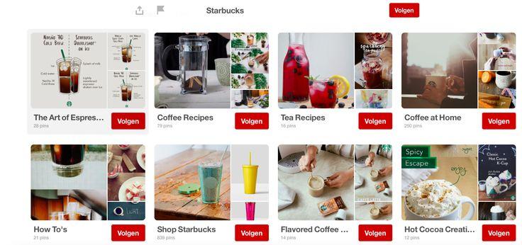 Starbucks geeft hun volgers de kans om zich in te leven in de omgeving waar zij zich goed in voelen. Ook dit is een voorbeeld van goede communicatie via Pinterest