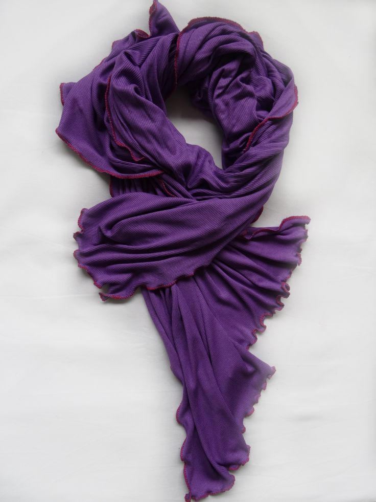 Purple Rain with Red Stitch Scarf by Stylesetterz Handmade Scarves @ www.facebook.com/stylesetterzhandmadescarves