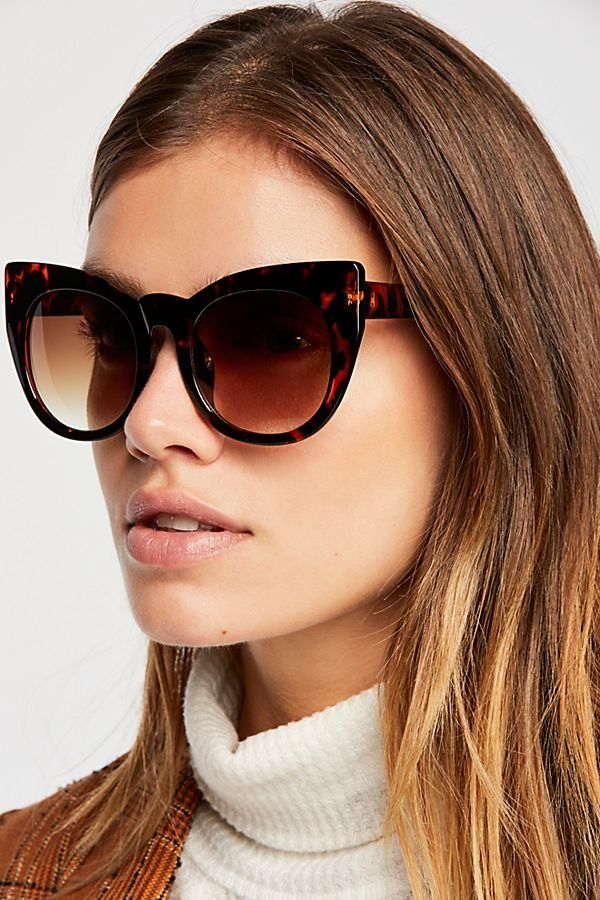 8f4ae677be Up In The Air Cat Eye Sunglasses - Tortoise Cat Eye Oversized Sunglasses -  Chic Sunglasses