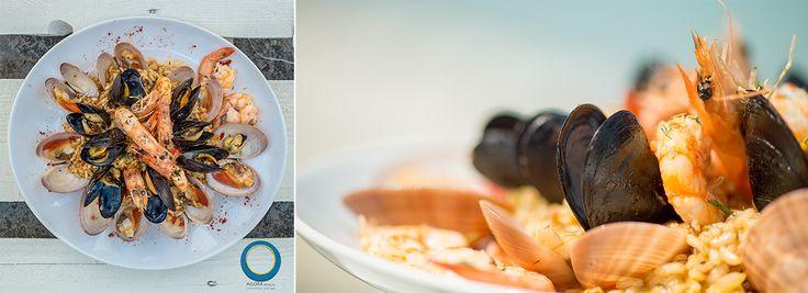 Sea Food Risotto, Agora Beach - Greek Restaurant & Beach Bar, Kriopigi, Halkidiki