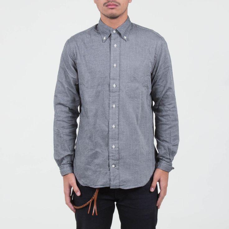 Gitman Vintage - Herringbone Shirt Grey