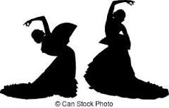 Image result for flamenco dancers silhouette