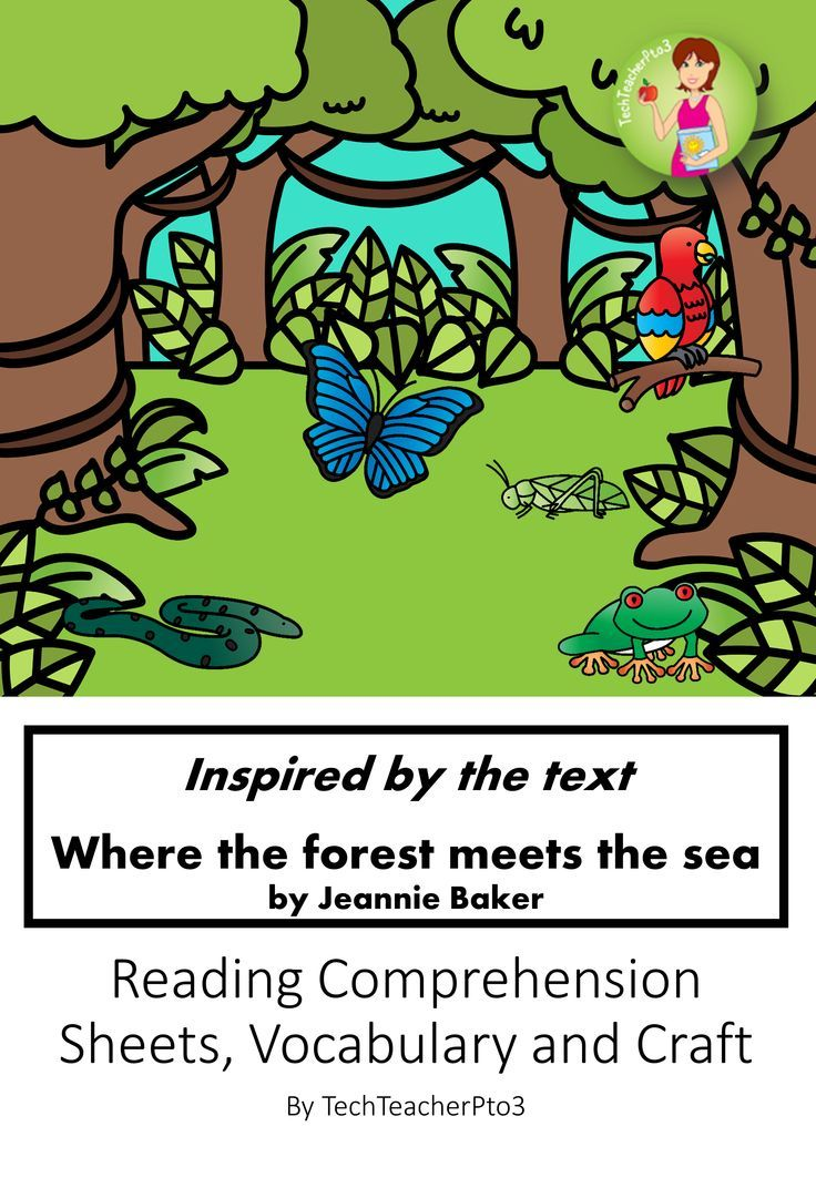 Inspired by the text Where the Forest Meets the Sea by J Baker, this comprehension pack contains craft ideas, vocabulary cards and 10 QAR Questioning Sheets.
