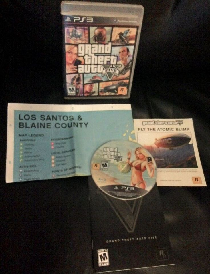 GRAND THEFT AUTO V (GTA 5) SONY PS3 WITH MAP FREE SHIPPING!! in Video Games & Consoles, Video Games | eBay