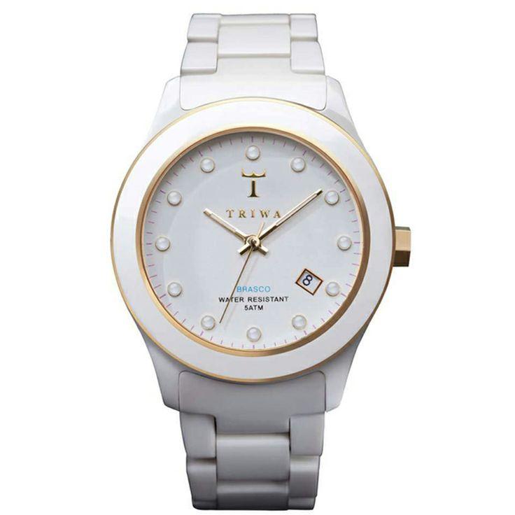 De naam zegt 't al: TRIWA White Russian ! Ook dit witte horloge verdient een ereplaats! Wit Triwa horloge.