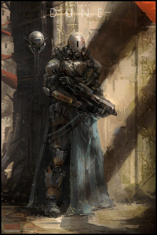Project Dune - Arrakeen City Guard concept art by Mark Molnar