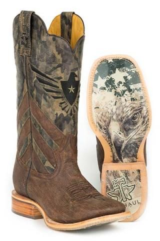 Tin Haul Sergeant At Arms Sergeant At Arms Screaming Eagle Sole Cowboy Boots - Urban Western Wear