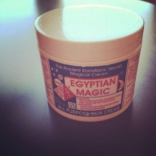 """My secret weapon!  I use Egyptian Magic on my face before bed and haven't had a single break-out since!  It's also evened out my skin tone so much so that I've stopped using foundation all together!  Not to mention how silky it makes my legs feel or how it brightens the pigment in my tattoos, or how awesome it is as a lip balm or... I could go on forever about this stuff!"" Hmmm..."