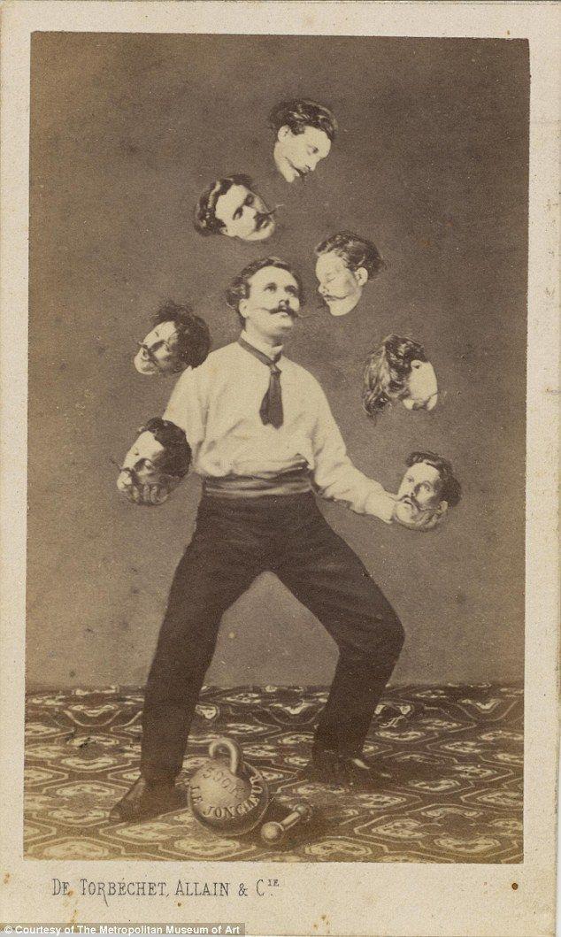 Man Juggling His Own Head: De Torbéchet, Allain & C. ca. 1880 by Saint Thomas D'Aquin Albumen silver print