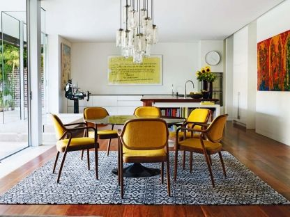 19 Dining Spaces You Would Be Proud To Have In Your Home: The Dining Space  Of Argentinean Architect Diego Balagnau0027s Sydney Home Features Yellow And  Timber ... Part 93