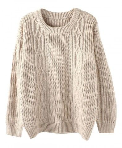 Open Knit Oversized Sweater