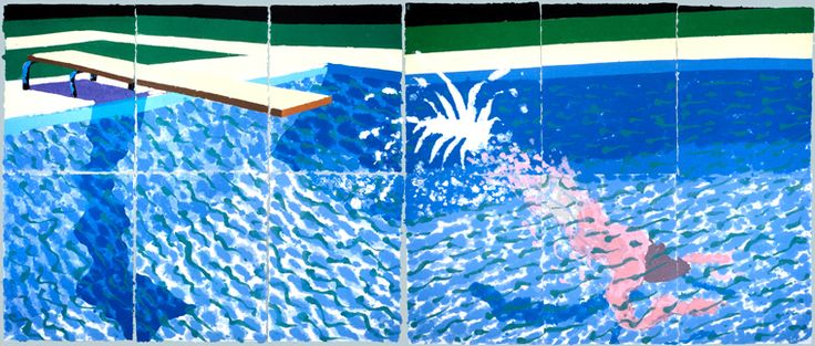 A Large Diver (Paper pool 27) (1978) Pulped coloured paper