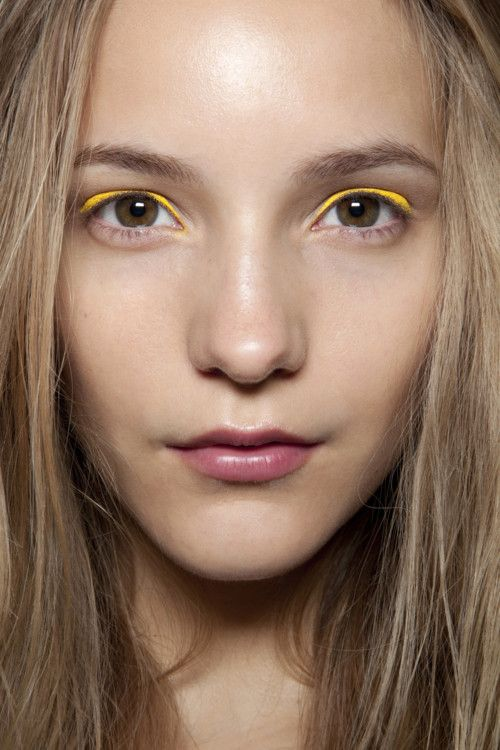 Dorothea Barth Jorgensen backstage at Peter Som Spring 2011