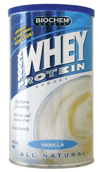 Biochem 100% Whey Protein Powder Natural Flavor. 99% lactose free, no other FODMAP ingredients.