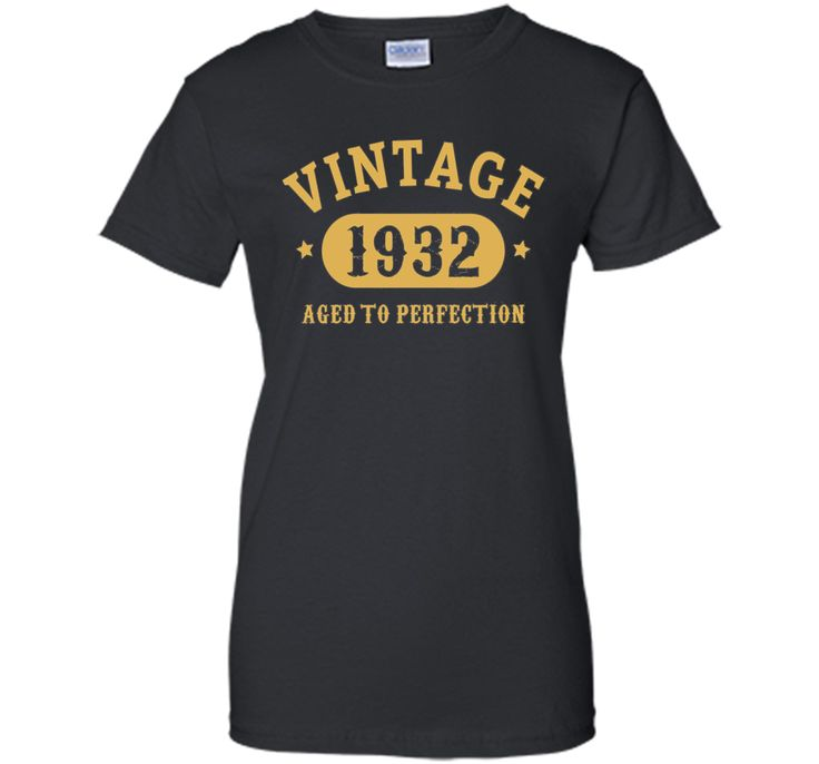 100% Cotton - Imported - Machine wash cold with like colors, dry low heat - Simple effect 85yrs old bday - aged to perfection gift idea for people born in 1932 graphic tee shirt. Looks good in five co