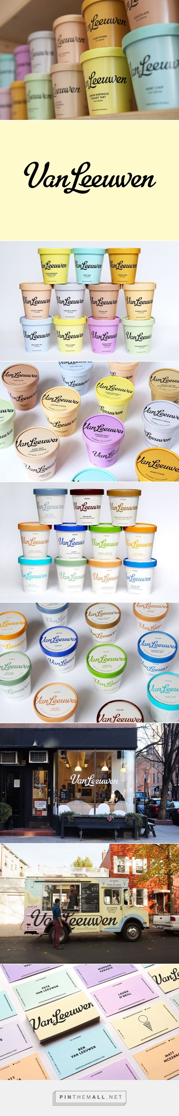 Van Leeuwen Artisan Ice Cream by Natasha Jen. Source: Behance. Pin curated by #SFields99 #packaging #design inspiration #ideas #innovation #branding #Identity #icecream