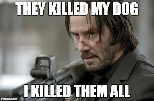 Don`t mess with another man`s dog, especially Keanu Reeves!! Check out my review for John Wick @ http://yourfeaturepresentation.com/2015/01/28/247/