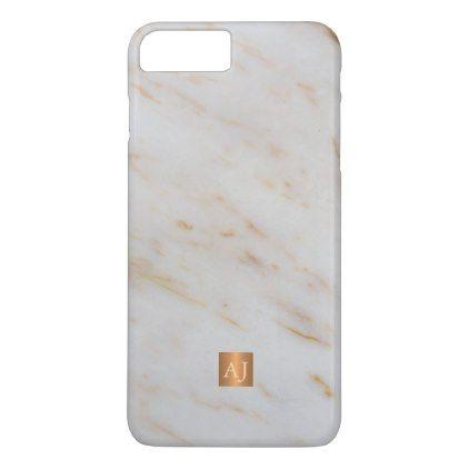 #Trendy grey marble metallic copper square monogram iPhone 7 plus case -  Trendy grey marble metallic copper square monogram iPhone 7 plus case  $39.05  by uniqueoffice  - #professional #elegant #modern #office #ideas #custom #personalize
