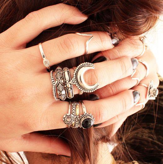 Anel de prata – lua crescente | Lakshmi Produtos Indianos