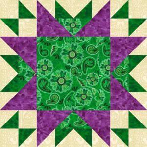 "Free Quilt Block Patterns: 16"" Oddfellows Chain Quilt Block Pattern"