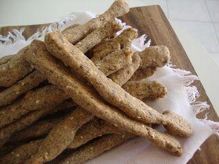 LE  RICETTE DI CHARA: Grissini con la farina di kamut e semi di lino