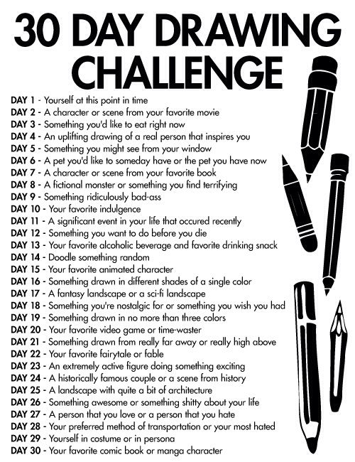 30 Day Drawing Challenge | Sheily