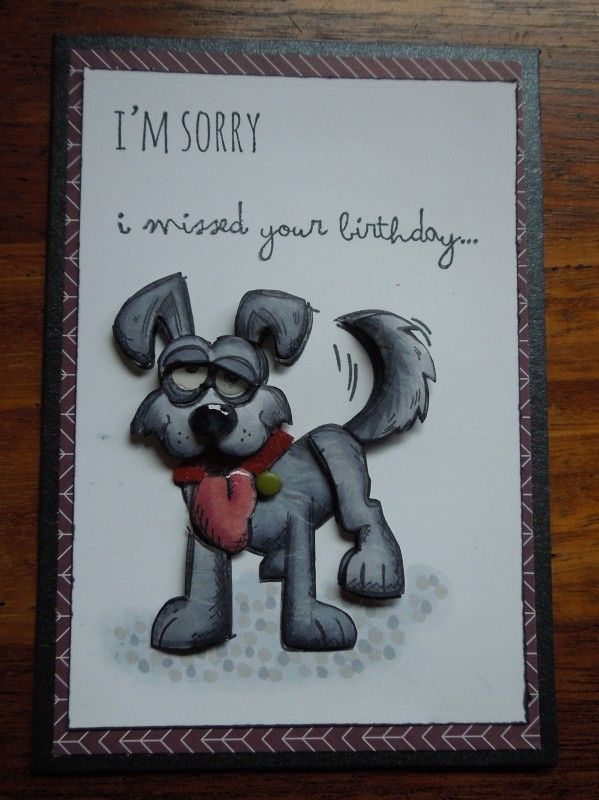 I'm Sorry by charlie horse - Cards and Paper Crafts at Splitcoaststampers