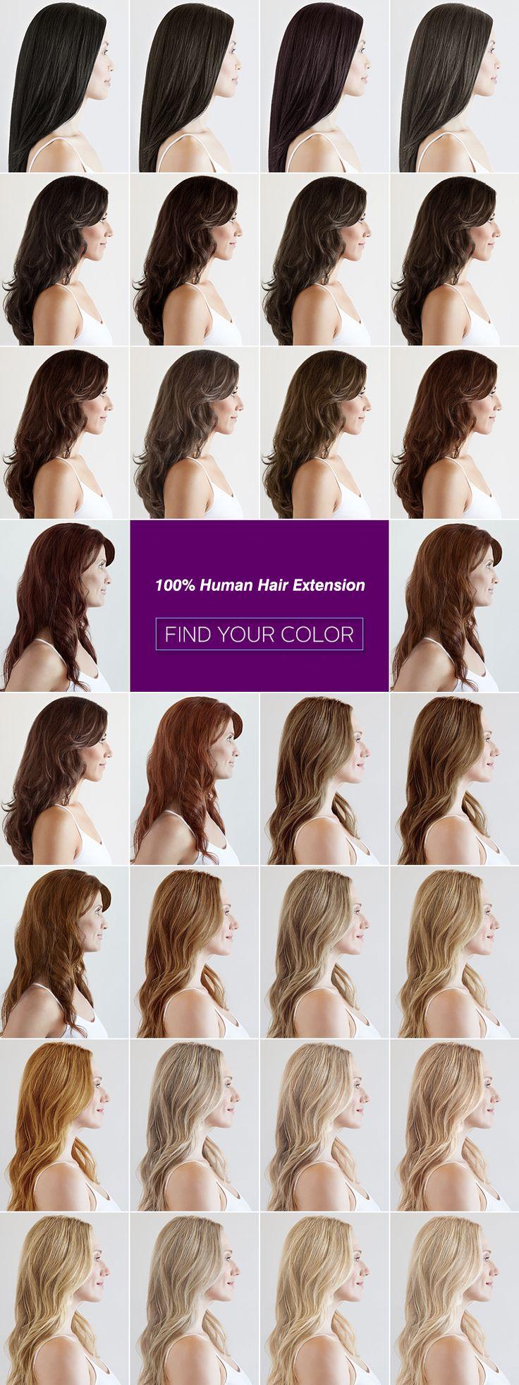 Encontre a cor do seu cabelo!
