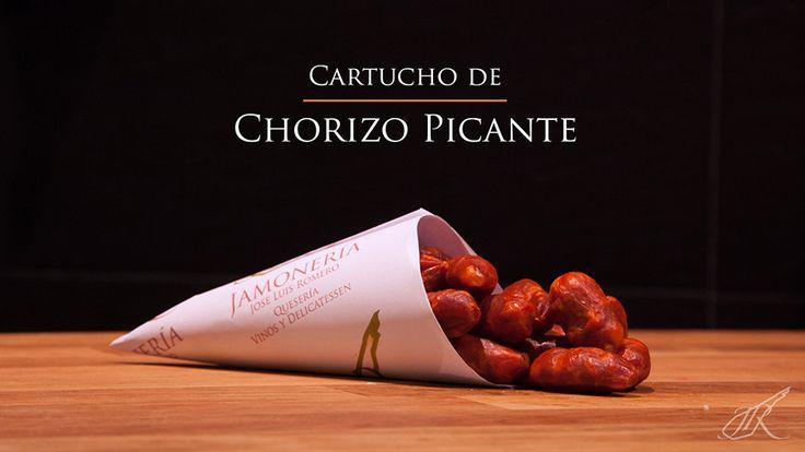 Hot Chorizo Gourmet Cone. Jamonería José Luis Romero. Seville, Spain. // Cartucho de Chorizo Picante. Sevilla, España.
