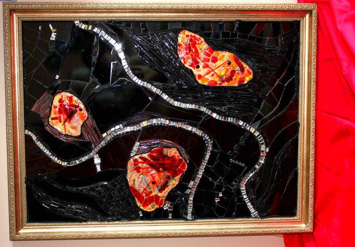 Стеклянная мозаика. Панно из стекла. Заказ в частный интерьер.