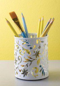 Amazon.com - Design Ideas Vinea Pencil Cup, White -