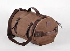 Large Style Canvas Travel Tote Luggage Duffel Bag Shoulder Backpack Coffee Color