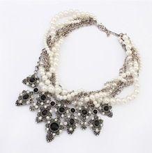 2014 высокое качество мода ожерелья коренастый колье смешанный ожерелье с крестом Crysatl ожерелье себе ювелирные изделия оптовая продажа для женщин(China (Mainland))