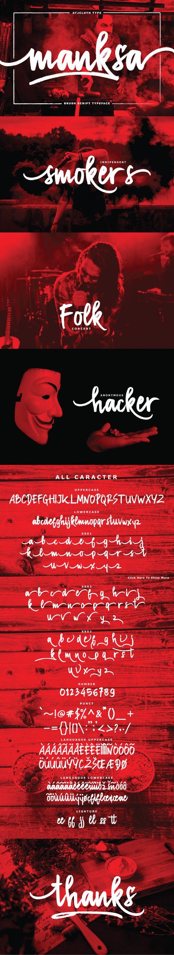 Manksa Typeface - Handwriting Fonts