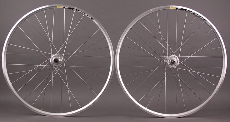 Mavic CXP Elite Silver 700c fixed gear SingleSpeed wheelset 32h [640321] - $129.00 Velomine.com : Worldwide Bicycle Shop, fixed gear track bike wheelsets campagnolo super record vintage bike