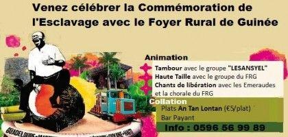 Commémoration de l'esclavage avec le foyer rural de Guinée Vous aussi intégrez vos événements dans l'Agenda des Sorties de www.bellemartinique.com C'est GRATUIT !  #martinique #concert #agenda #sortie #soiree #Antilles #domtom #outremer