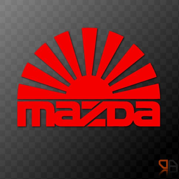 Details About Mazda Rising Sun Arc Vinyl Decal Sticker