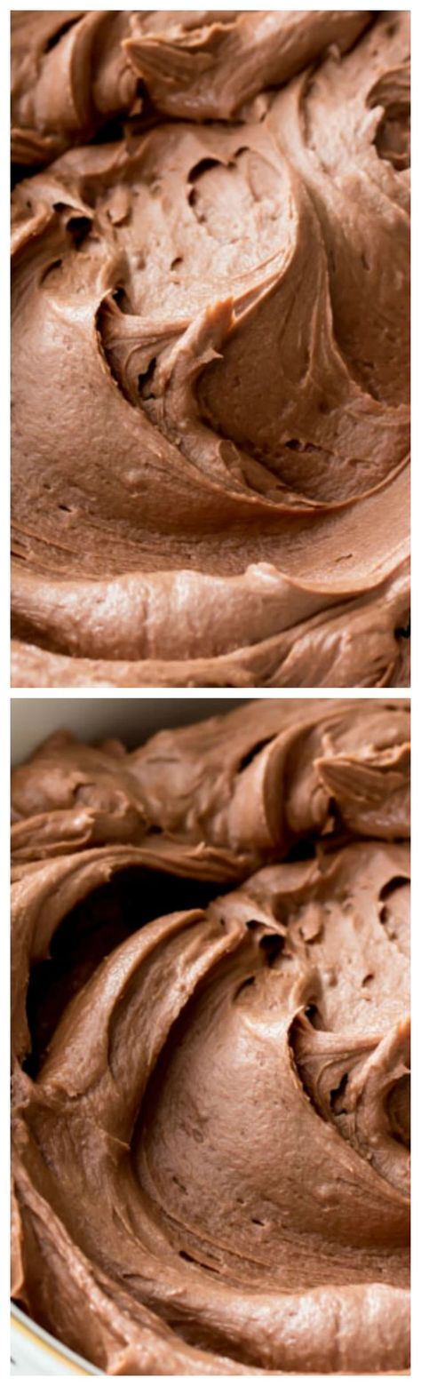 The Very Best Chocolate Frosting ~ This is a simple chocolate frosting that needs just 6 ingredients — it will easily frost a 2 layer 8″ or 9″ cake or generously ice a dozen cupcakes!