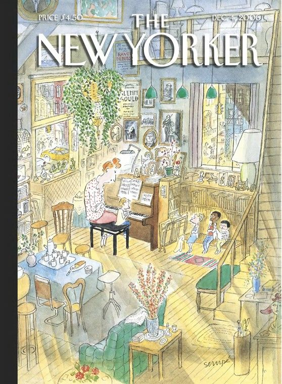 Jean-Jacques Sempé | The New Yorker 2006 - Piano Lessons
