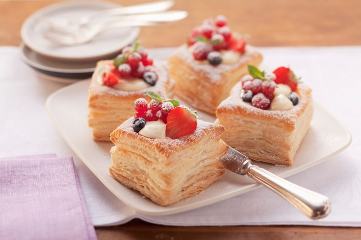 These gorgeous puff pastry cups are equally impressive as they are delicious.