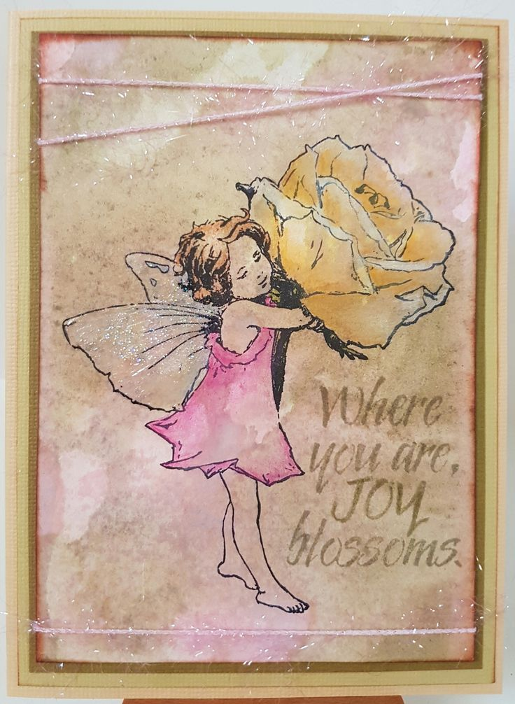 Rose 144147 by Crafter's Companion; Joy Blossoms 3066F by Penny Black. Card by Susan of Art Attic Studio