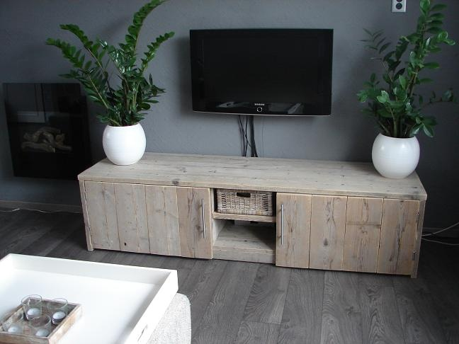 Recycled wood console