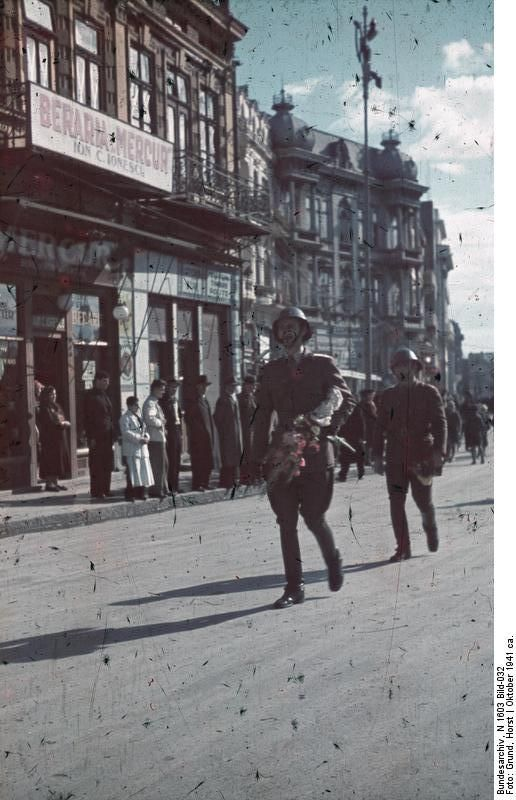 Romanian soldiers in Constanta, Romania, circa Oct 1941