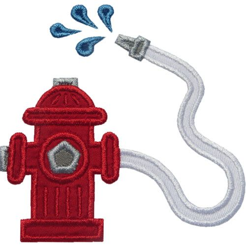 Fire Hydrant Hose Applique By Happyapplique Com Kitchen