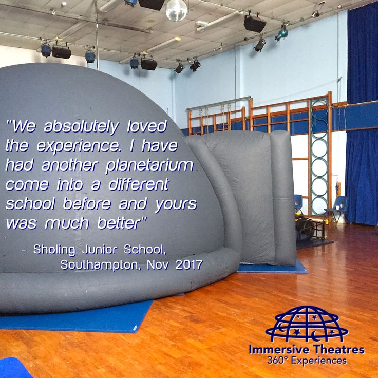 """❤️ MUCH BETTER ❤️ - """"We absolutely loved the experience. I have had another planetarium come into a different school before and yours was much better"""" - Sholing Junior School, Southampton, Nov 2017"""