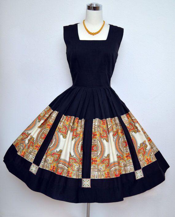 Vintage 50s Dress // 1950s Cotton Summer Dress by VintageDevotion