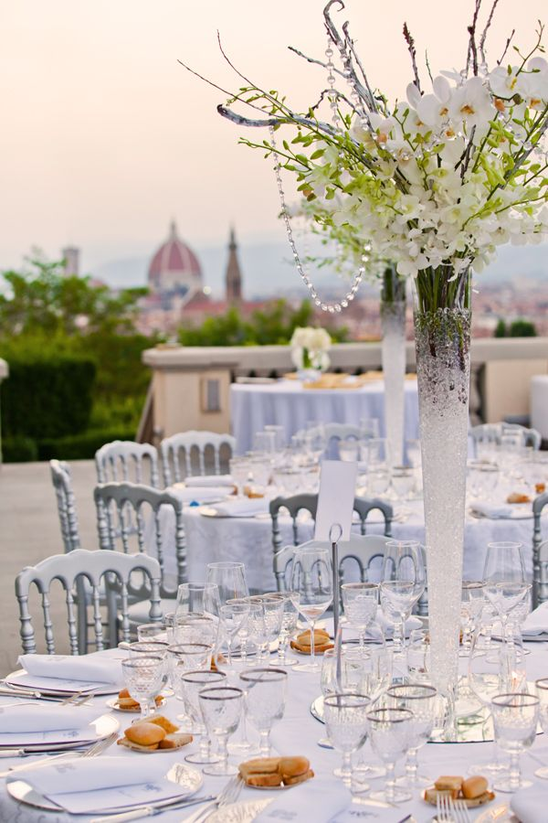 tall centerpiece Florence Tuscany