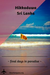 Hikkaduwa Sri Lanka ~ Final days in paradise