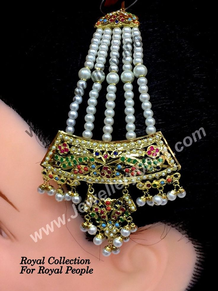 Jadau Beads Navratan pasa for women gold platted Buy Jhumar Pasa Jewellery Online at Vijay and Sons...Order it now..!!